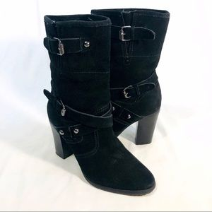 Crown Vintage Suede Heeled Boot